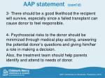 aap statement cont d