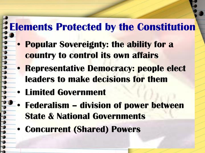 Elements Protected by the Constitution