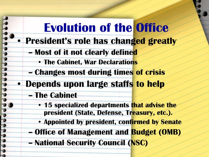 Evolution of the Office