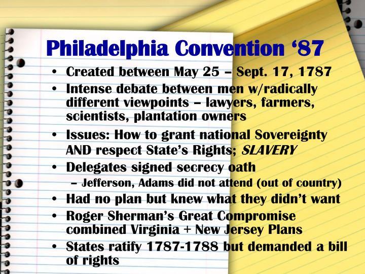 Philadelphia convention 87