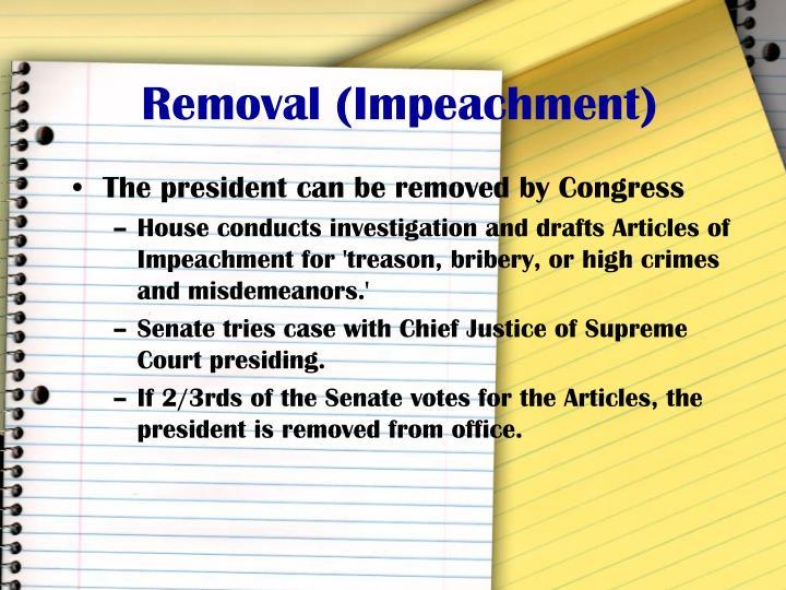 Removal (Impeachment)