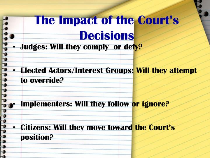 The Impact of the Court's Decisions