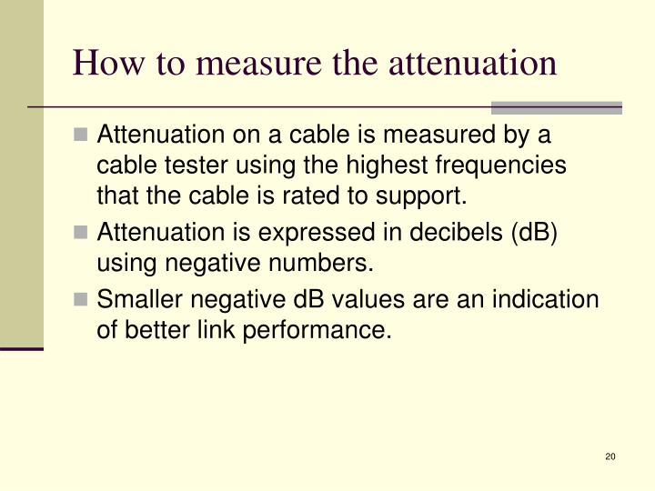 How to measure the attenuation