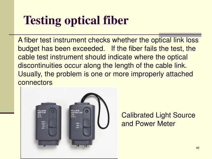 Testing optical fibe