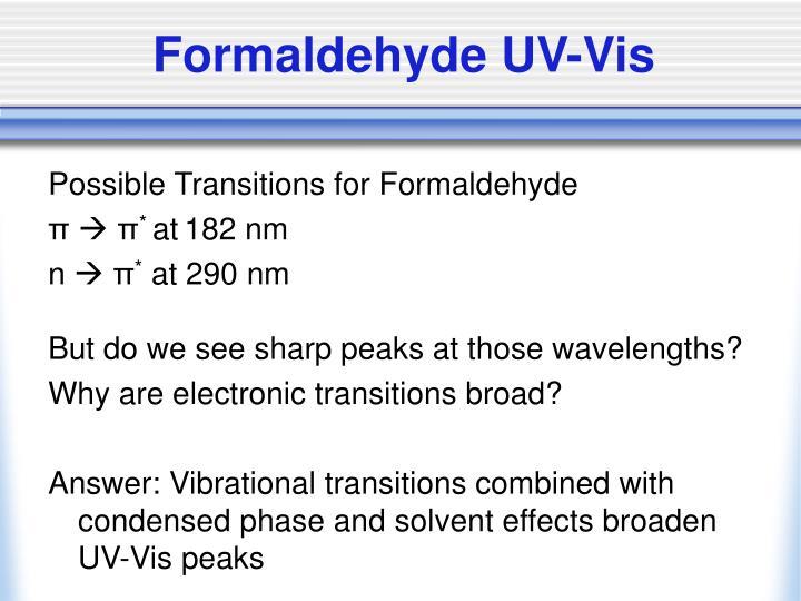 Formaldehyde UV-Vis