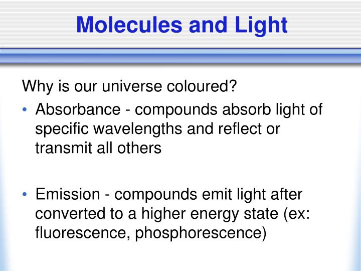 Molecules and Light