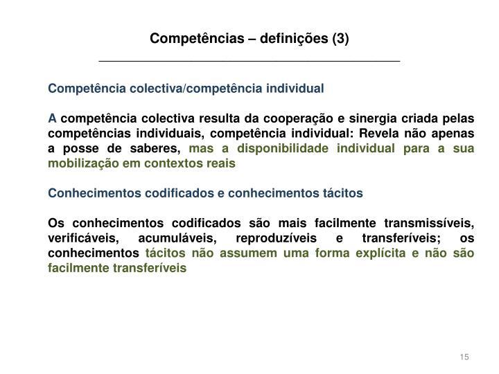 Competências – definições (3)