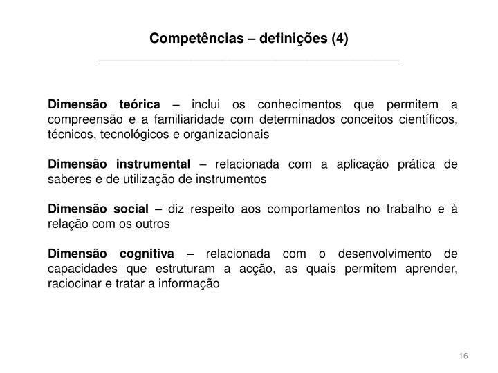 Competências – definições (4)