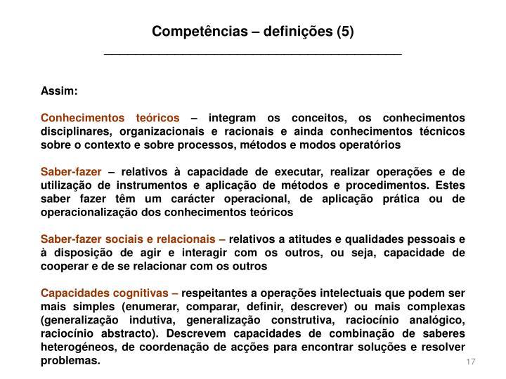 Competências – definições (5)