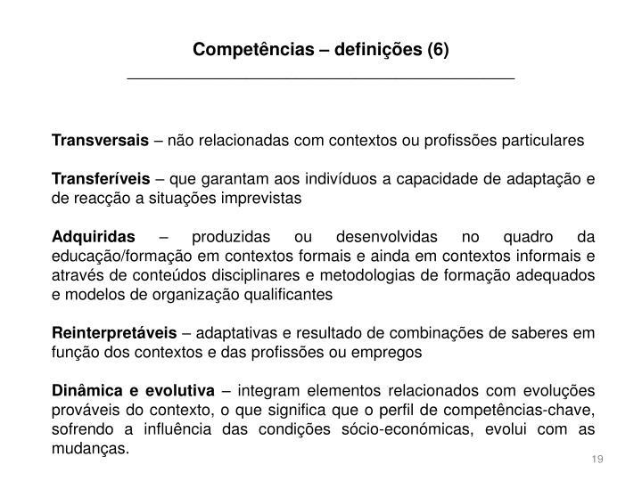 Competências – definições (6)