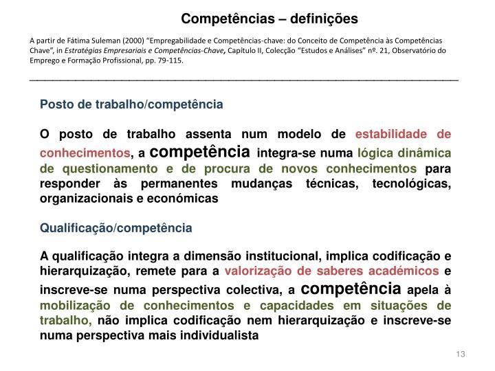Competências – definições