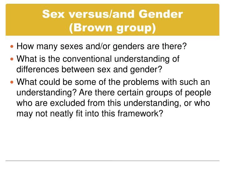 Sex versus/and Gender