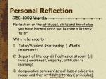 personal reflection