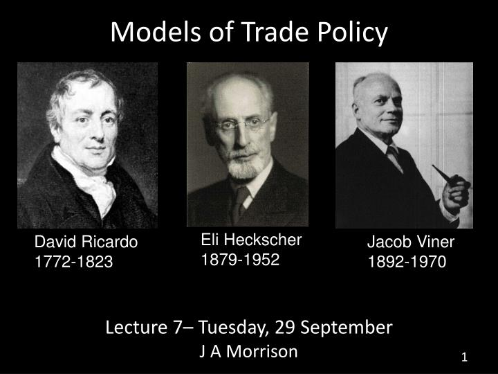 models of trade policy n.