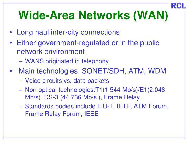 Wide-Area Networks (WAN)