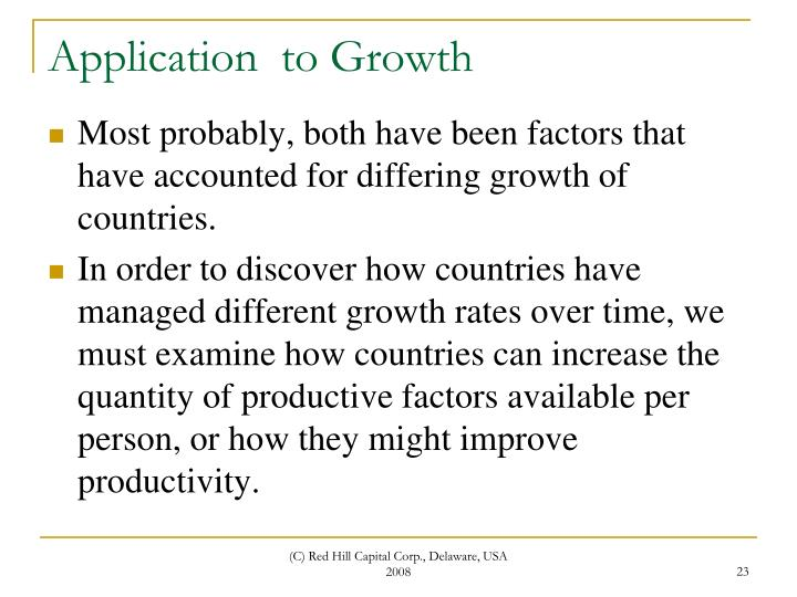 Application  to Growth