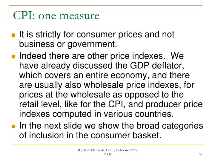 CPI: one measure