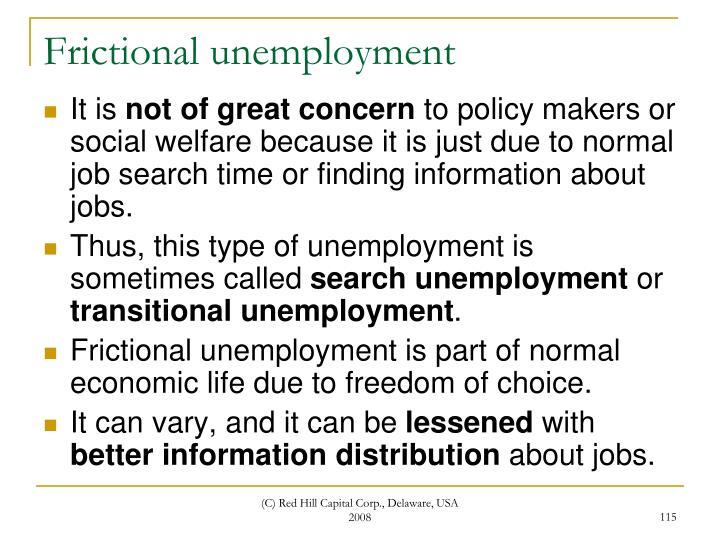 Frictional unemployment