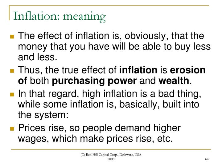 Inflation: meaning