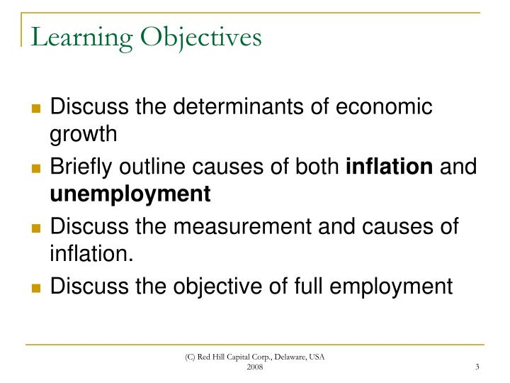 an analysis of the economic objectives of inflation There are two different causes of inflation it can be caused by excess demand in the economy if this occurs it means that the amount of people who want this type of inflation can have massive effects in a variety of different industries, ie when a raw material that is universally used is increased in price.