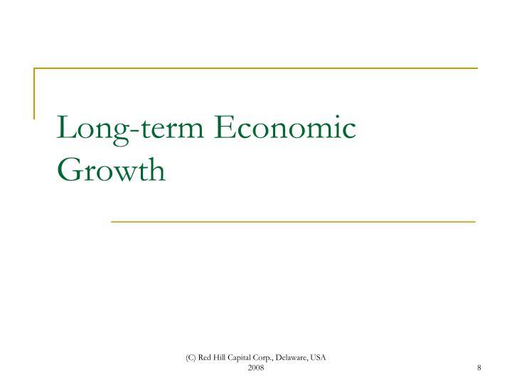 Long-term Economic Growth
