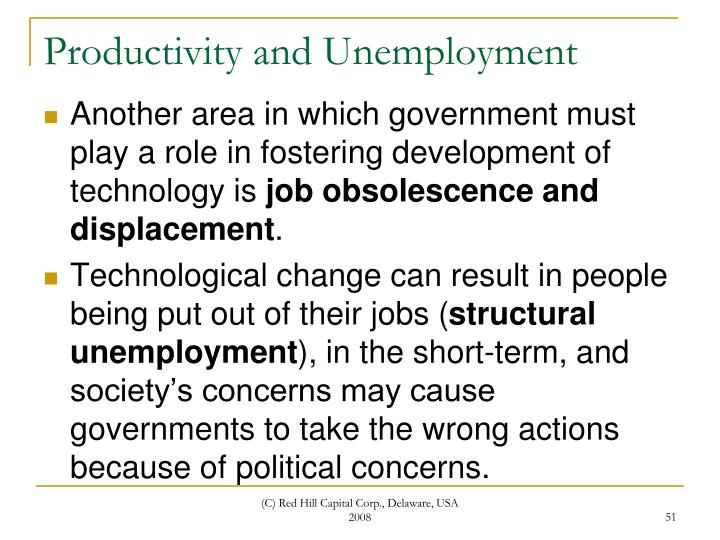 Productivity and Unemployment