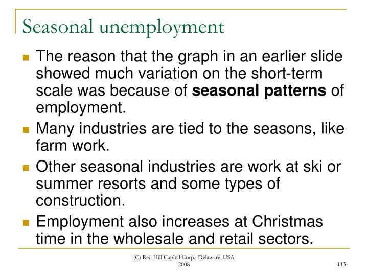 Seasonal unemployment