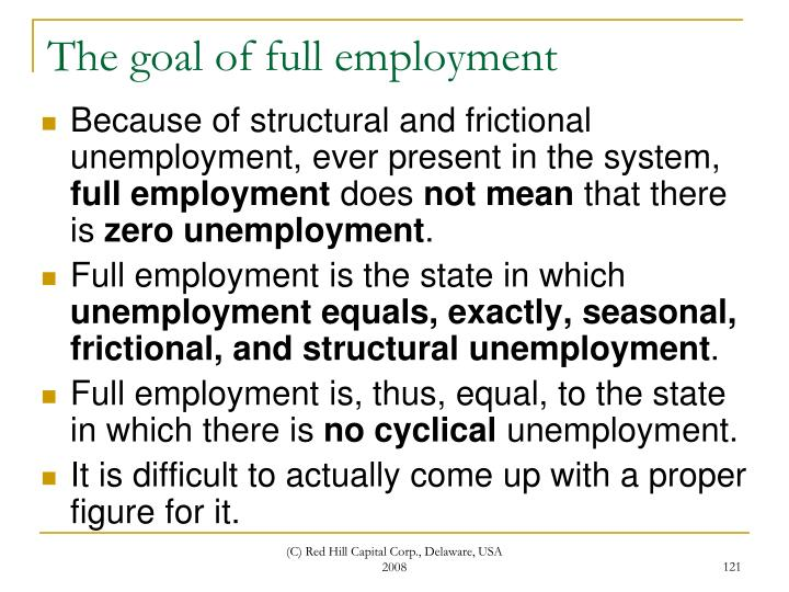 The goal of full employment