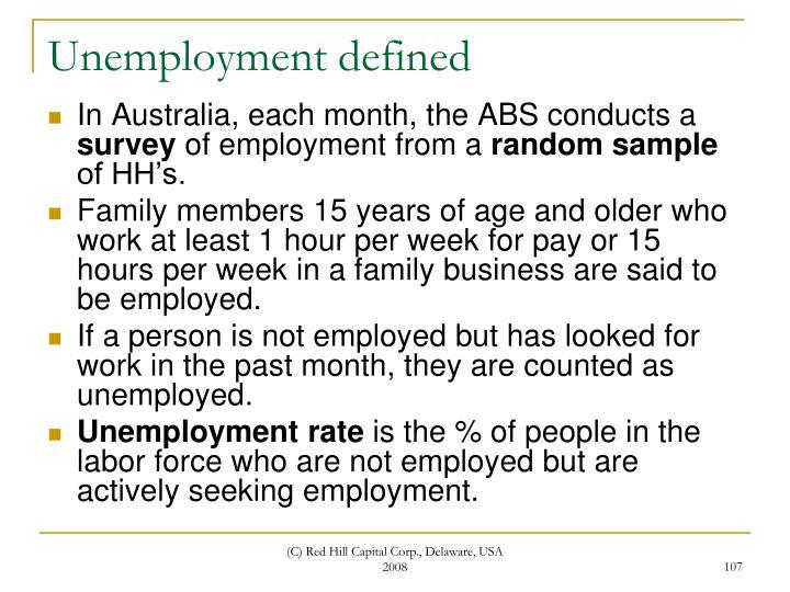Unemployment defined