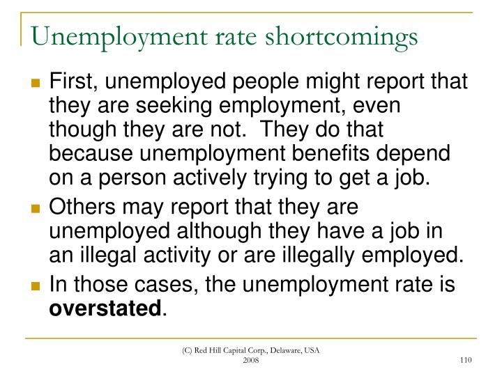 Unemployment rate shortcomings