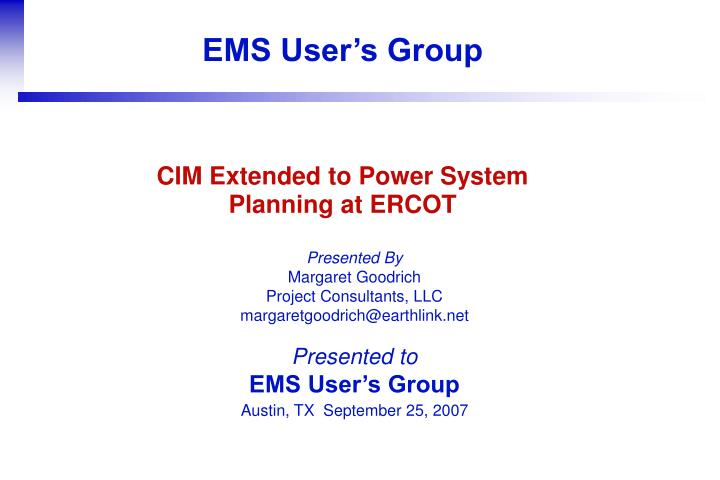 cim extended to power system planning at ercot n.