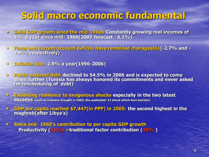 Solid macro economic fundamental