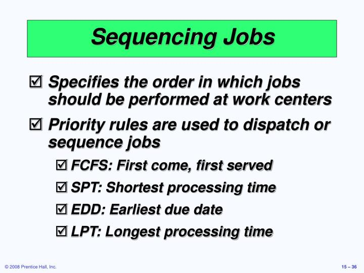 Sequencing Jobs