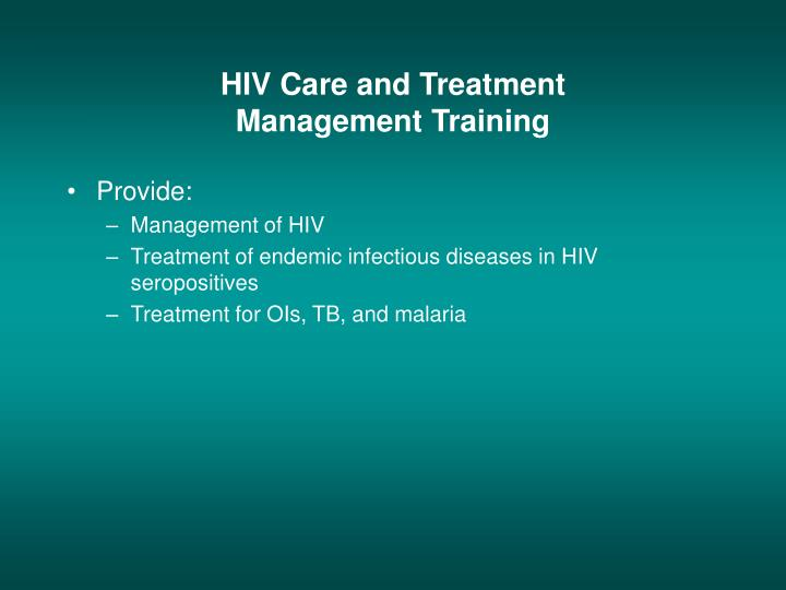 HIV Care and Treatment
