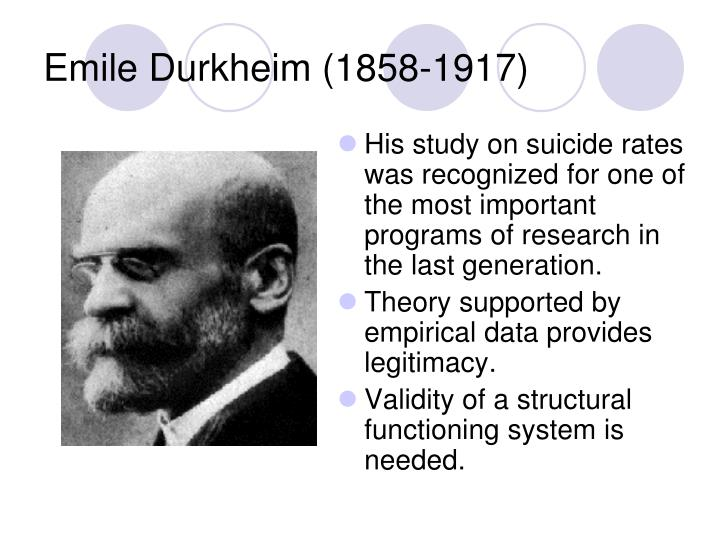 social theory durkheim Durkheim was the most deliberate and the most penetrating theorist among the classical sociologists emirbayer's judicious selection of texts, matched with contemporary selections from among the best of modern sociology, shows how central durkheimian themes have been in the increasing sophistication of sociological ideas through the end of.