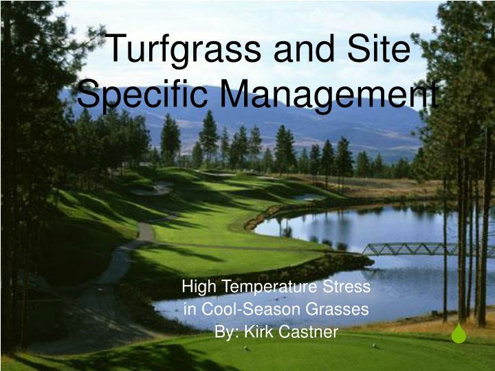 turfgrass and site specific management n.