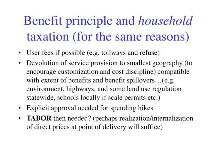 Benefit principle and
