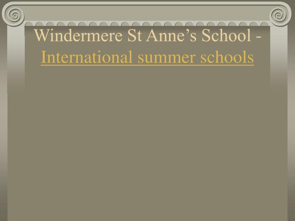 windermere st anne s school international summer schools l.