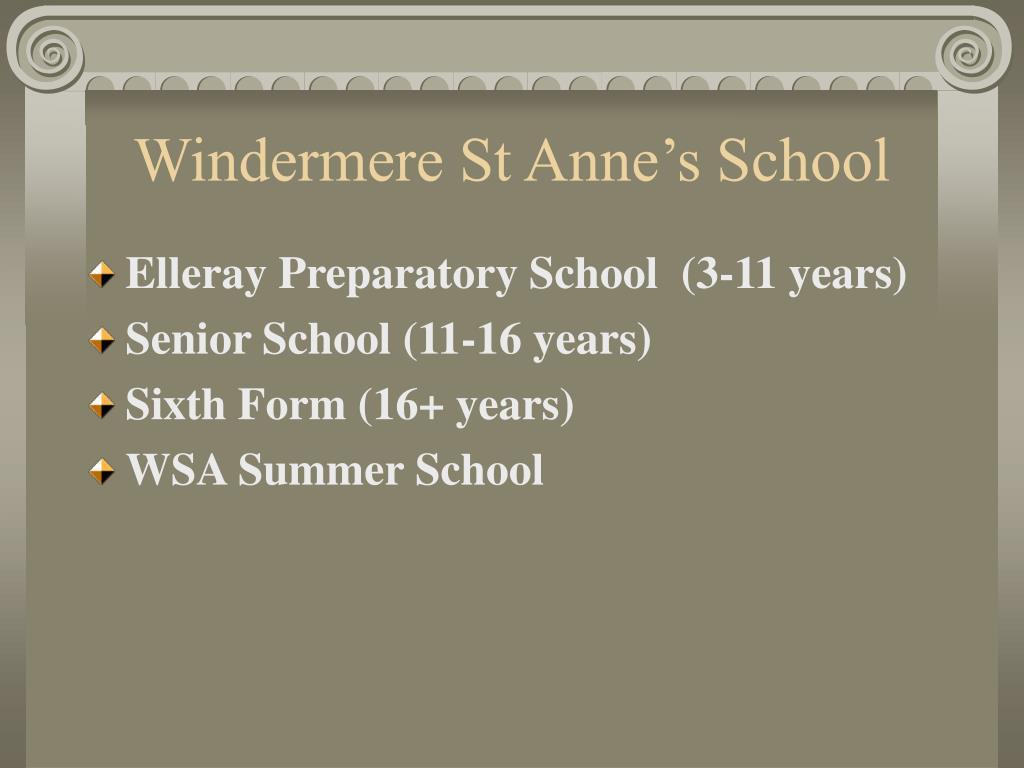 Windermere St Anne's School