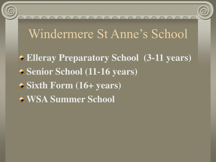 Windermere st anne s school