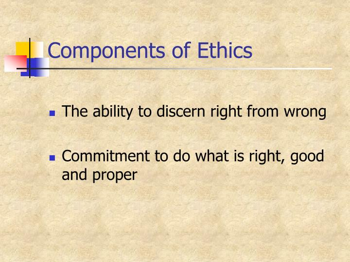 Components of Ethics
