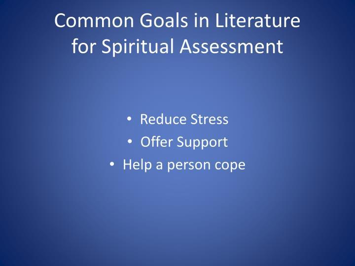 Common Goals in Literature