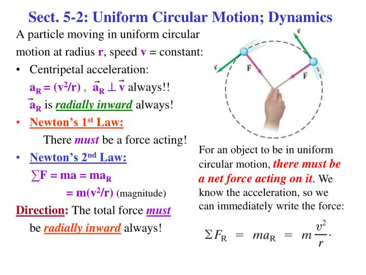 Sect 5 2 uniform circular motion dynamics