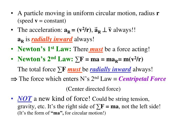 A particle moving in uniform circular motion, radius
