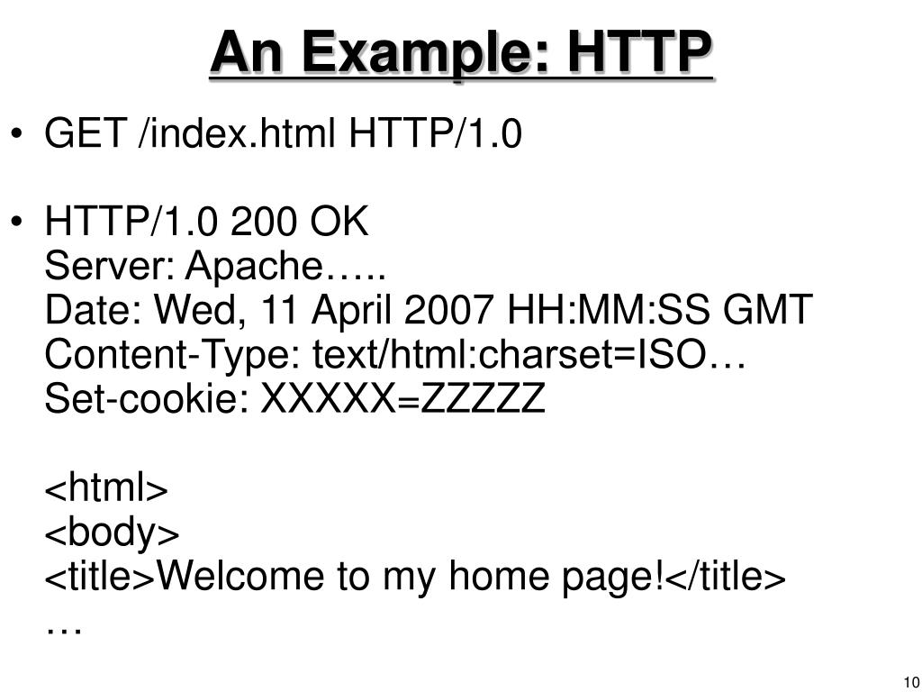 An Example: HTTP