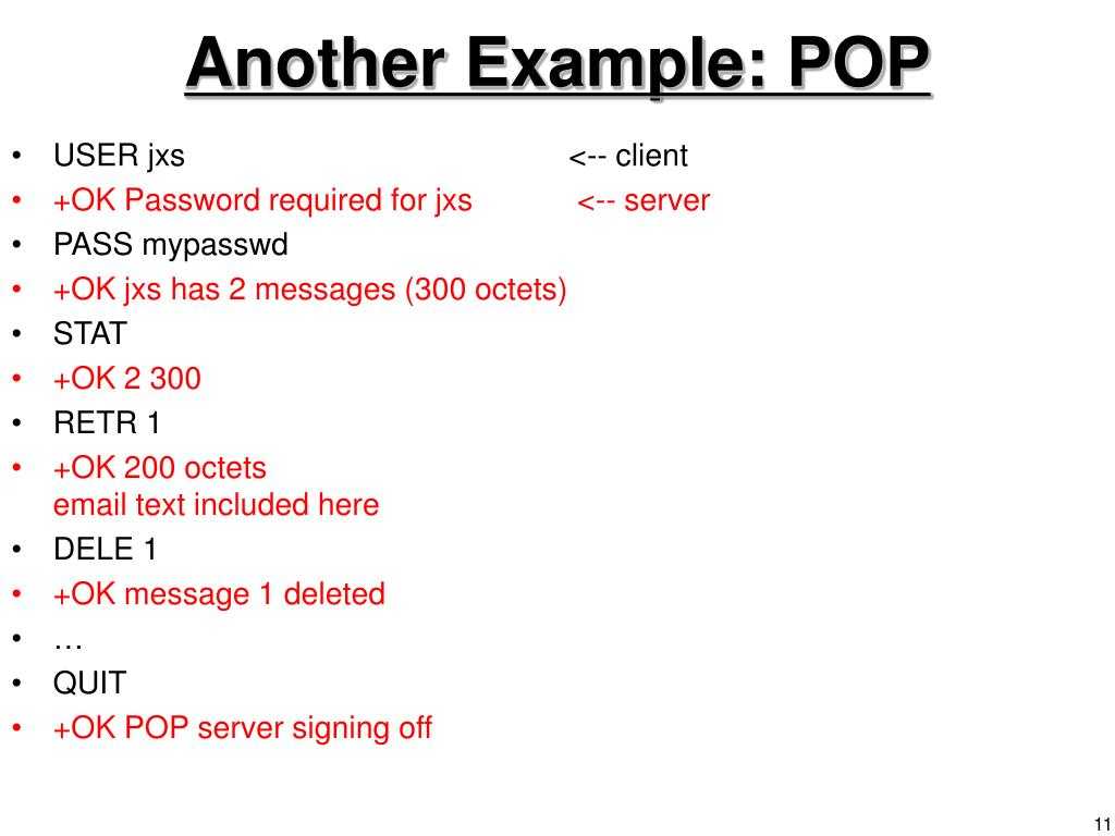 Another Example: POP
