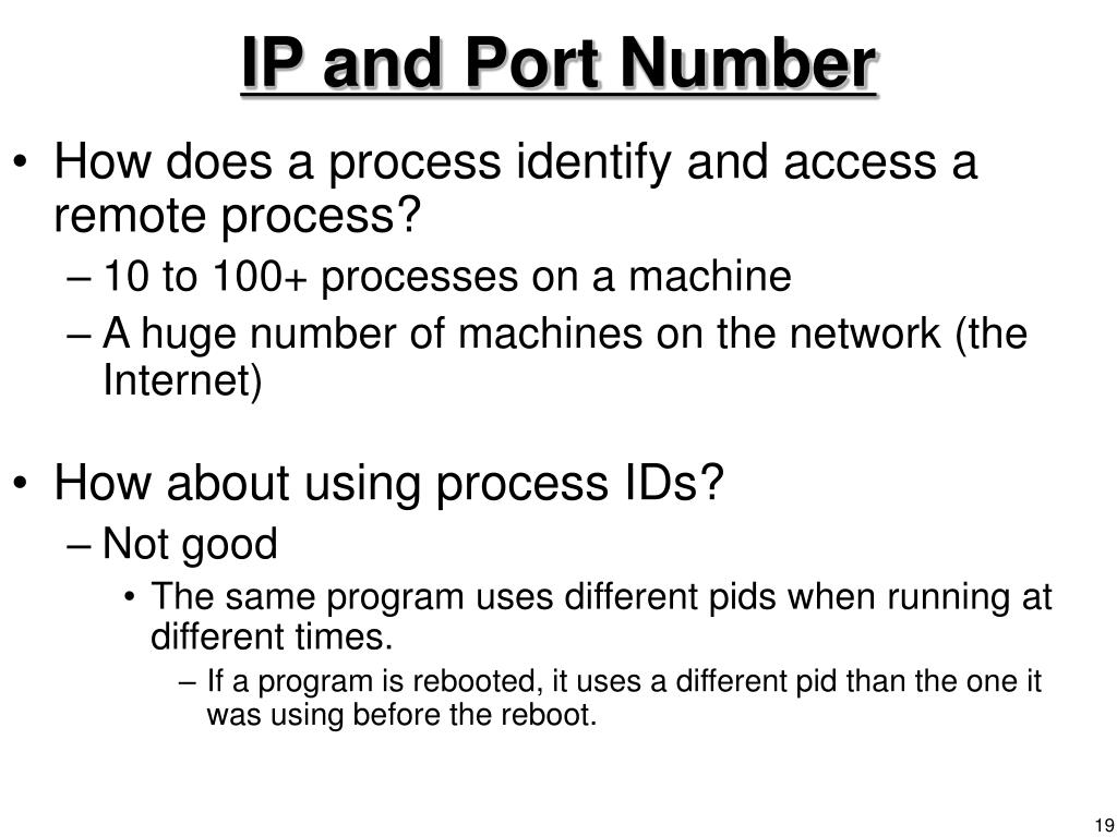 IP and Port Number