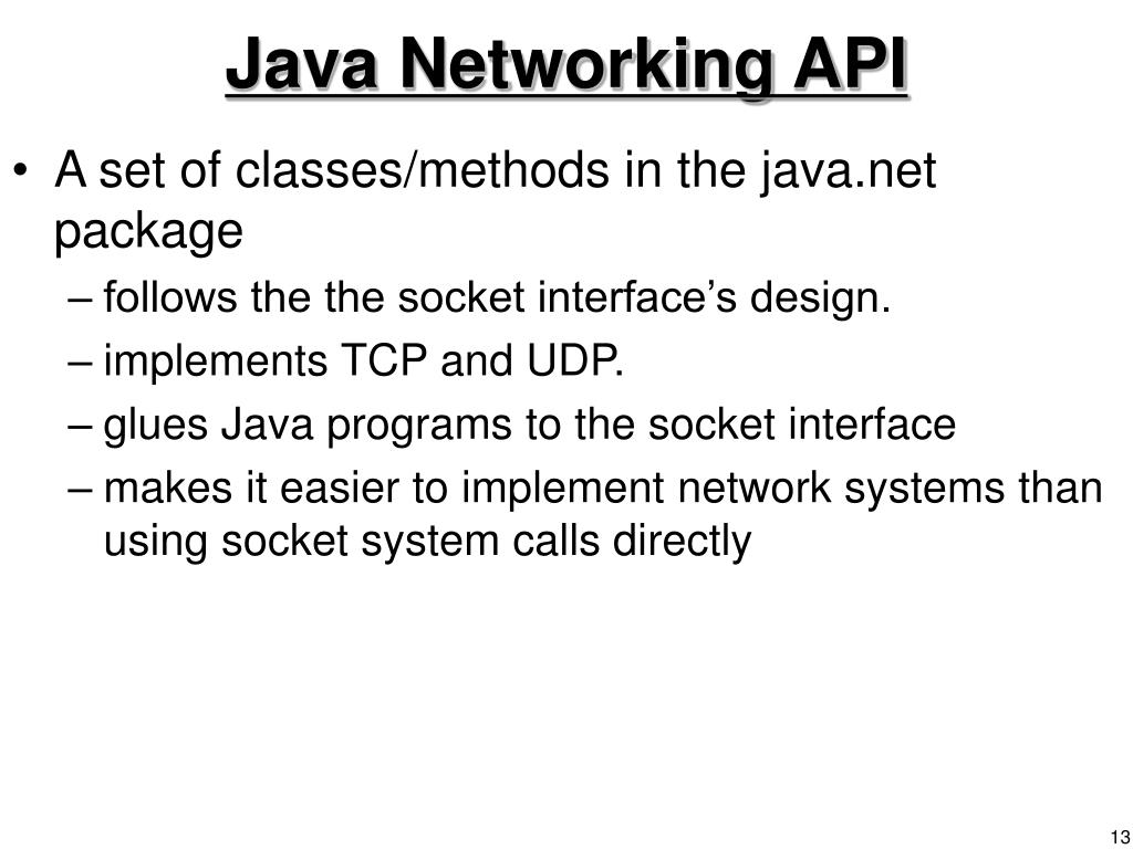 Java Networking API