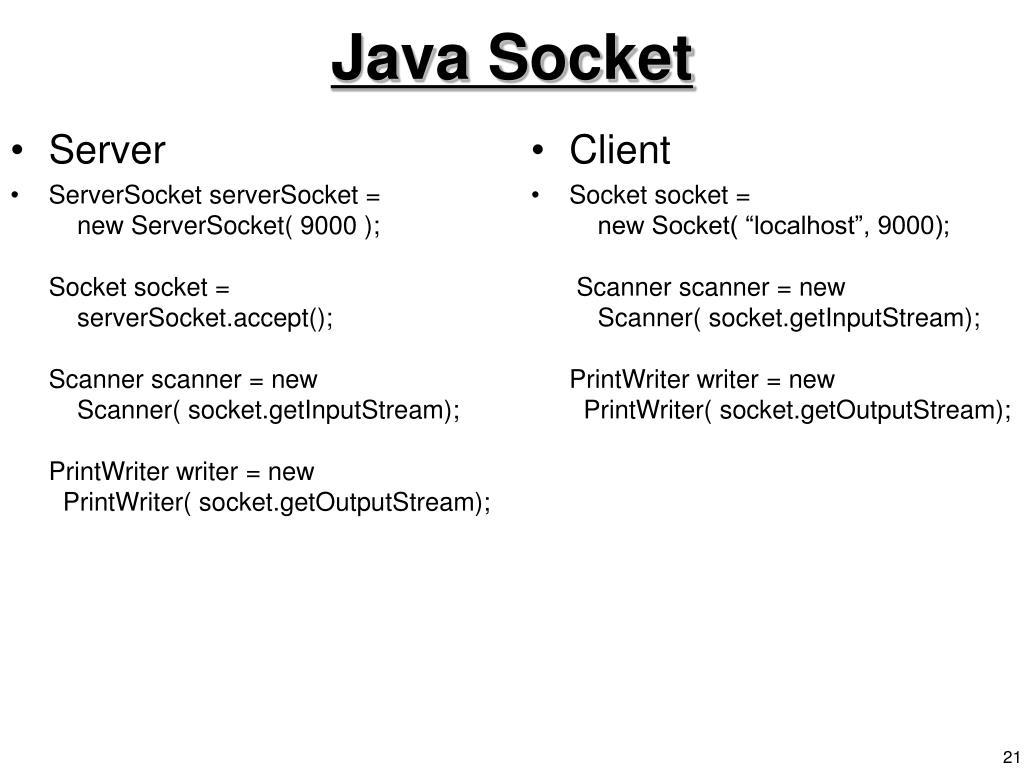 Java Socket