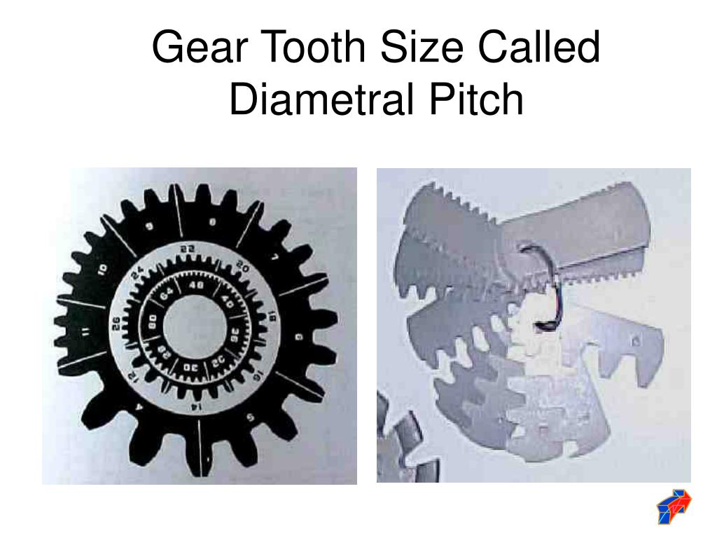 Gear Tooth Size Called Diametral Pitch